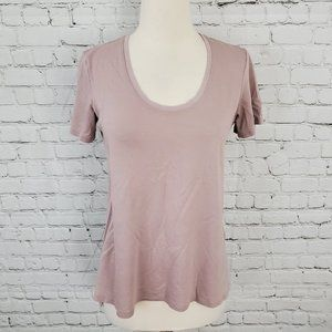 Theory Short Sleeve Tee T-Shirt Mauve S